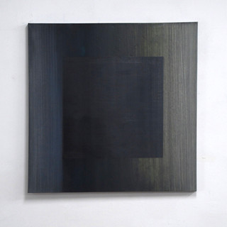 """Gianluca Cosci """"Veiled #12"""" 2020. Oil on canvas 100 x 100 cm."""
