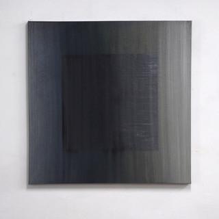 """Gianluca Cosci """"Veiled #14"""" 2020. Oil on canvas 100 x 100 cm."""