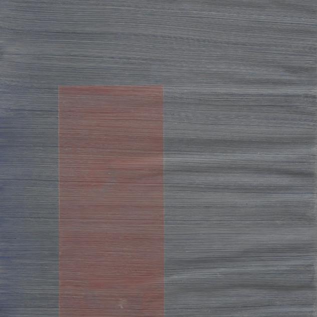 "Gianluca Cosci ""Whitewashing #31"" 2019. Oil on canvas 60 x 30 cm."