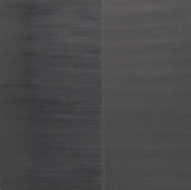 "Gianluca Cosci ""Whitewashing #33"" 2019. Oil on canvas 150 x 40 cm."