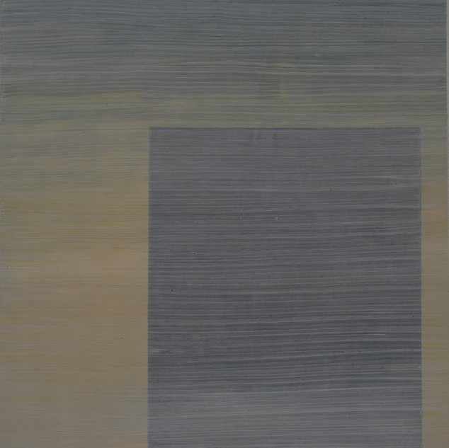 "Gianluca Cosci ""Whitewashing #17"" 2019. Oil on canvas 60 x 35 cm."