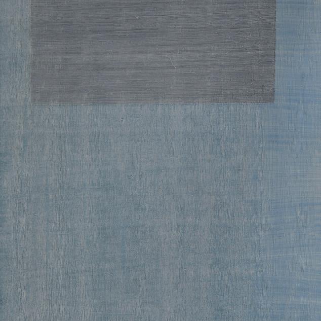 "Gianluca Cosci ""Whitewashing #6"" 2019. Oil on canvas 50 x 20 cm."