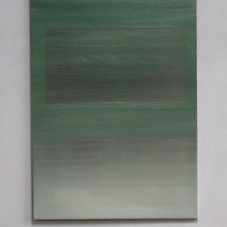"""Gianluca Cosci """"Veiled #5"""" 2020. Oil on canvas 80 x 60 cm."""