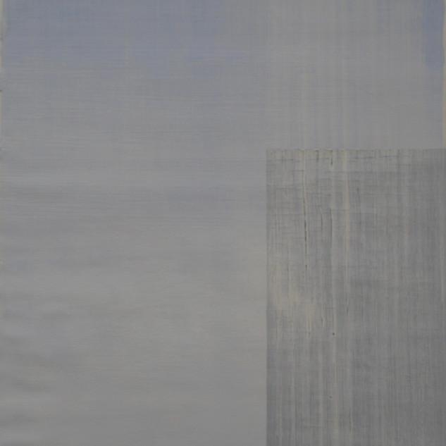 "Gianluca Cosci ""Whitewashing #37"" 2019. Oil on canvas 50 x 30 cm."