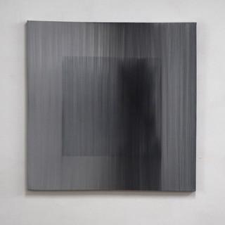 """Gianluca Cosci """"Veiled #18"""" 2020. Oil on canvas 100 x 100 cm"""
