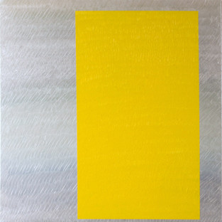 "Gianluca Cosci ""Double Negative"" 2013. Oil on canvas.  100 x 100 cm."