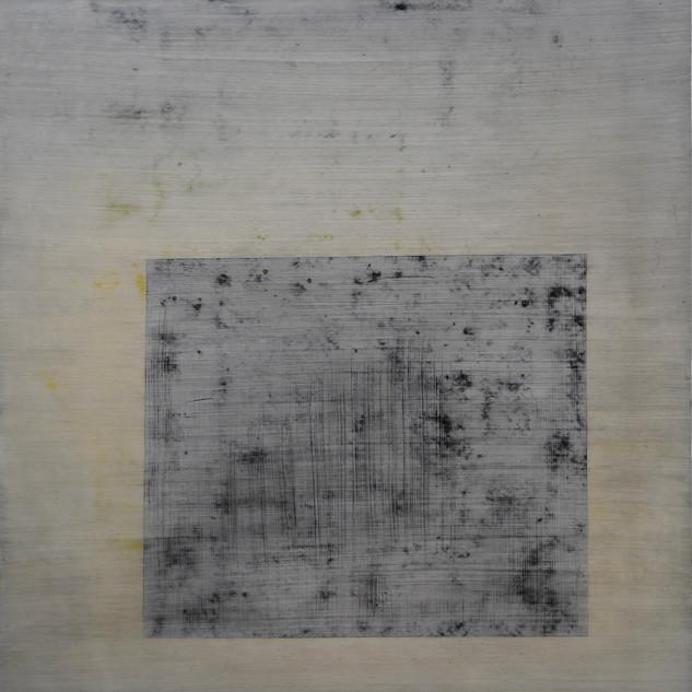 "Gianluca Cosci ""Whitewashing #2"" 2019. Oil on canvas 100 x 80 cm."
