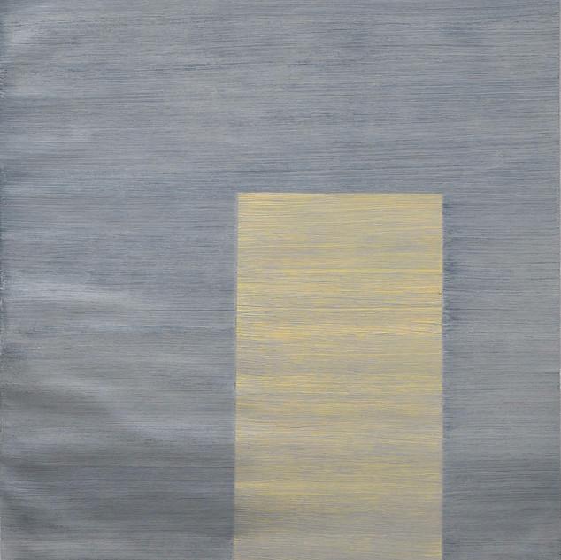"Gianluca Cosci ""Whitewashing #36"" 2019. Oil on canvas 50 x 20 cm."