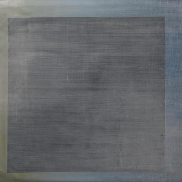 "Gianluca Cosci ""Whitewashing #14"" 2019. Oil on canvas 60 x 60 cm."