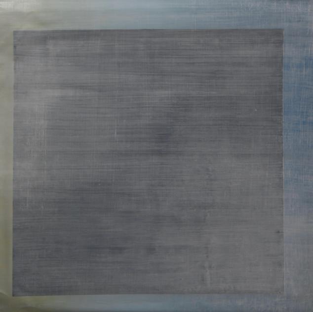 "Gianluca Cosci ""Whitewashing #27"" 2019. Oil on canvas 60 x 60 cm."