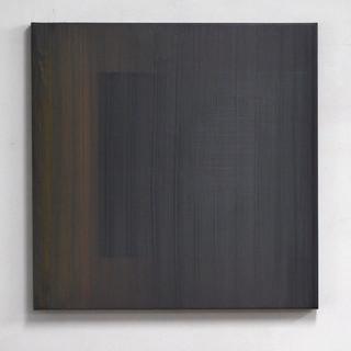 """Gianluca Cosci """"Veiled #10"""" 2020. Oil on canvas 80 x 80 cm."""