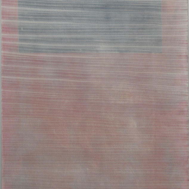 "Gianluca Cosci ""Whitewashing #4"" 2019. Oil on canvas 100 x 40 cm."
