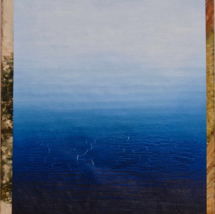 Gianluca Cosci untitled #3 2016 Oil on found painting 100 x 65.5 cm
