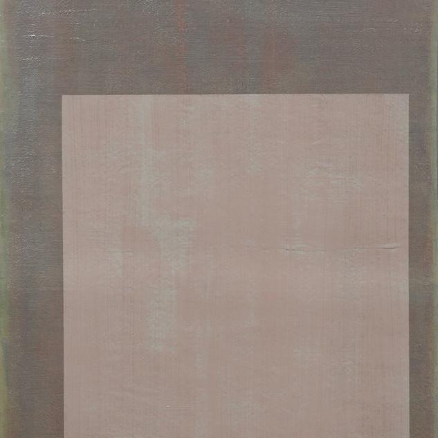 "Gianluca Cosci ""Whitewashing #18"" 2019. Oil on canvas 60 x 35 cm."