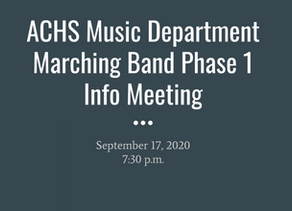 View the Marching Band Parent Meeting