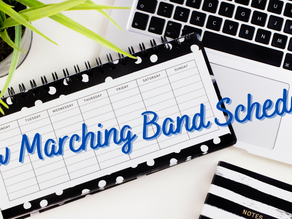Marching Band schedules starting 9/28