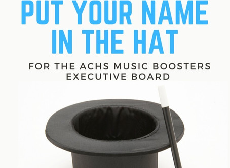 Want to serve on the Music Booster Board?