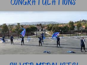 Congratulations Winter Guard Silver Medalists!