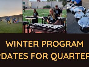 Winter Program Updates for Quarter 4