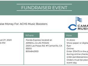 Panda Express Fundraiser, Thursday, August 27