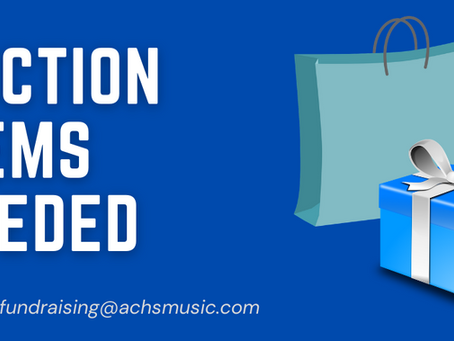 Call for donations for ACHS Music Silent Auction