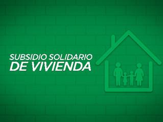 ABIERTAS POSTULACIONES PARA SUBSIDIOS DE VIVIENDA