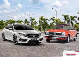 Honda Civic: 45 anos de carreira em alto desempenho