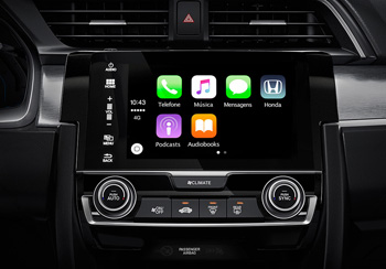 Interface Apple CarPlay e Android