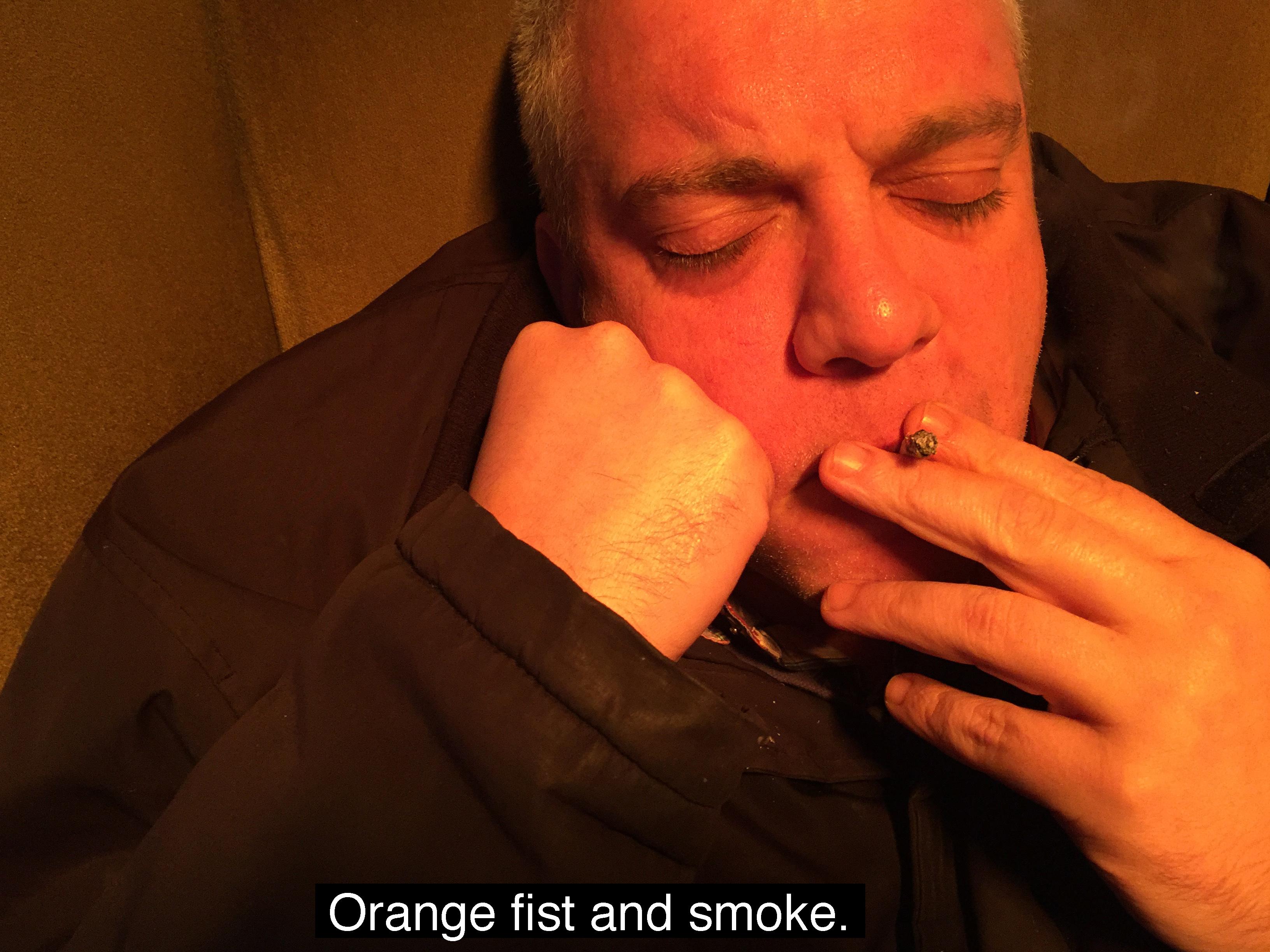 Orange Cigarette text
