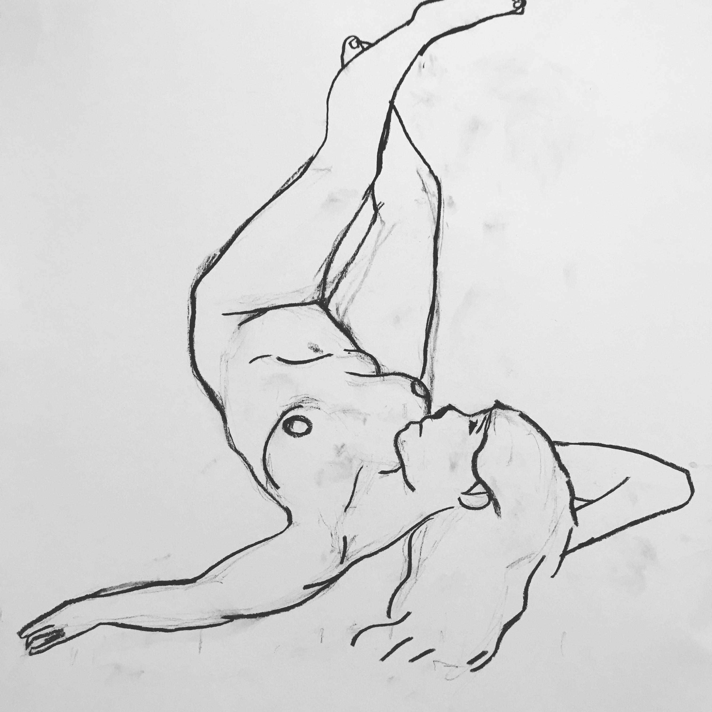 Raised Diagonal Female Nude Carla