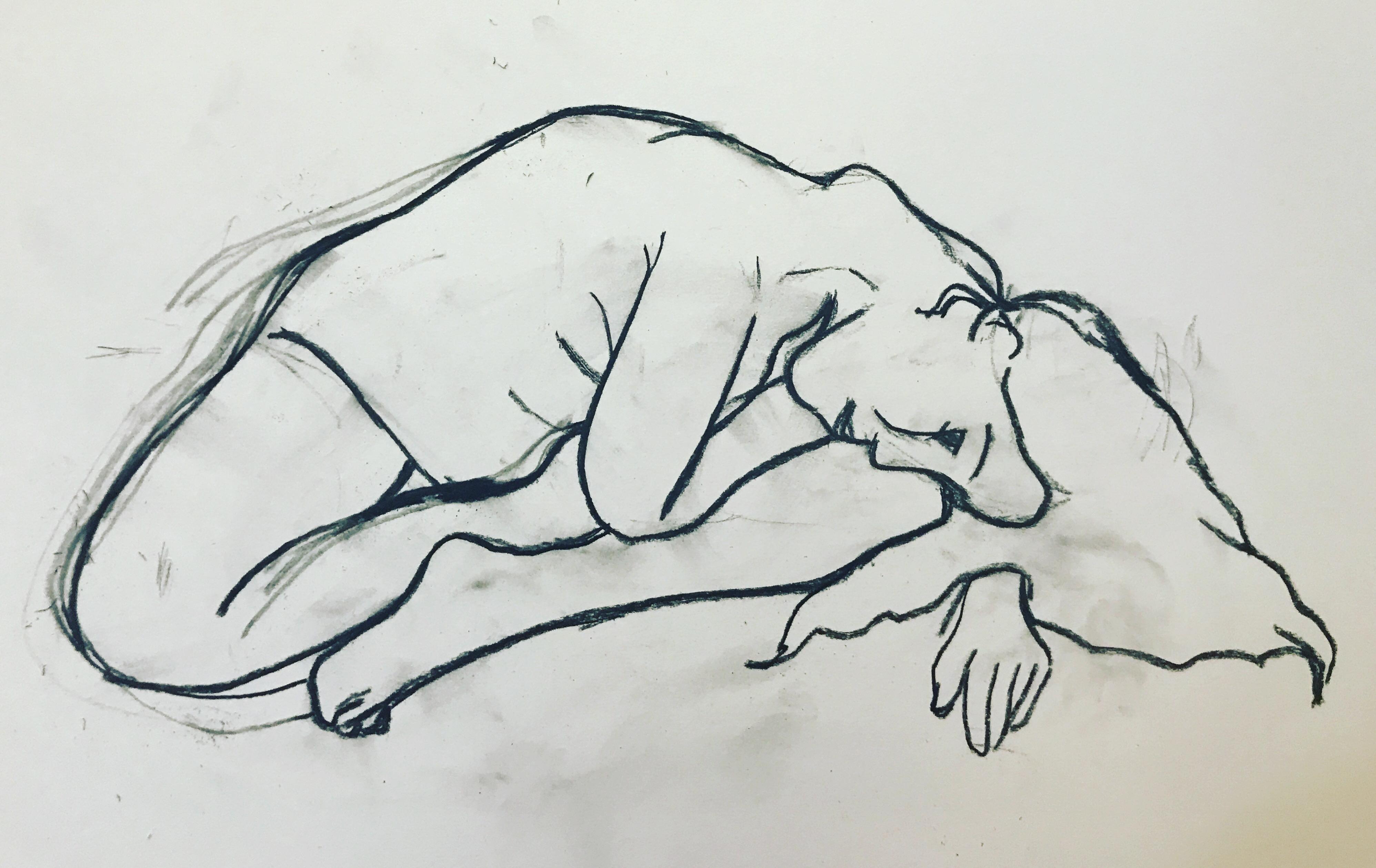 Bent Female Nude