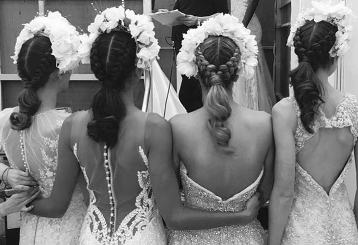 Backstage at the press wedding show
