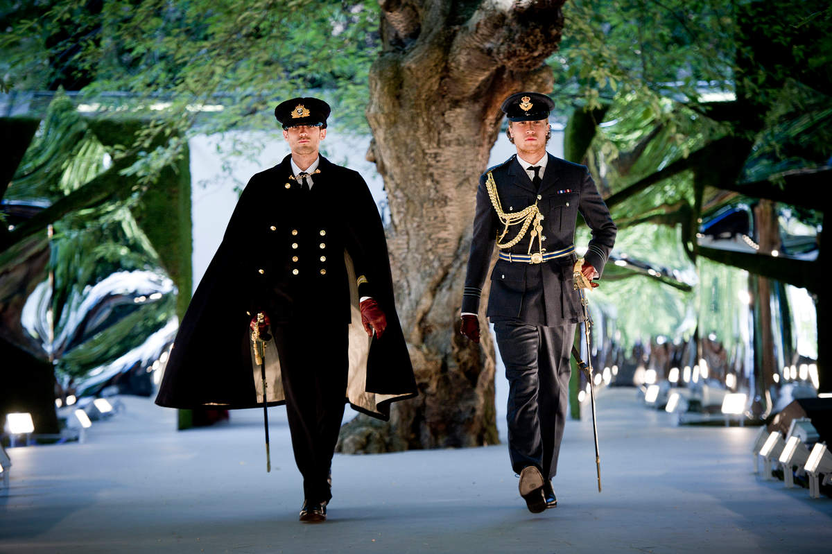 Gieves & Hawkes military attire at The Queen's Coronation Festival