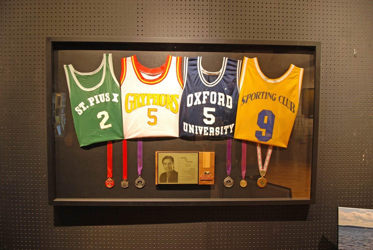 Barber Art + Framing | Framed Basketball Memorabilia