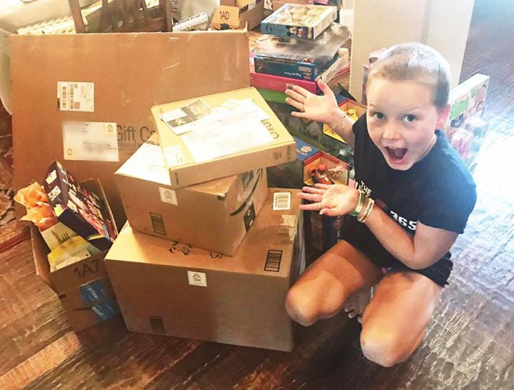 Today we mailed out 5 more Milestone gifts 📦 from Sadie and the Sadie Keller Foundation!!!!!  For t