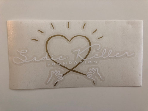 Sadie Keller Foundation Logo Car Decal