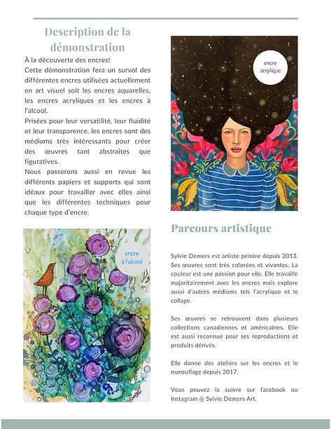 Démonstration de Sylvie Demers le 6 nove