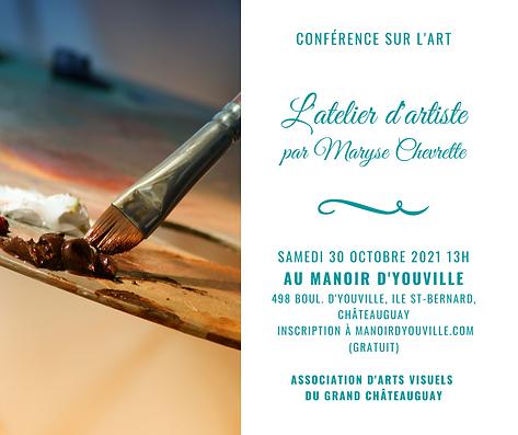 Conférence sur l'art avec Maryse Chevret