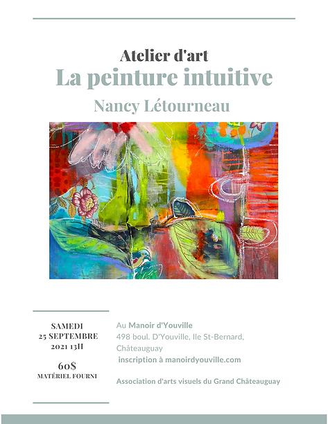 Atelier d'art avec Nancy Létourneau le 2
