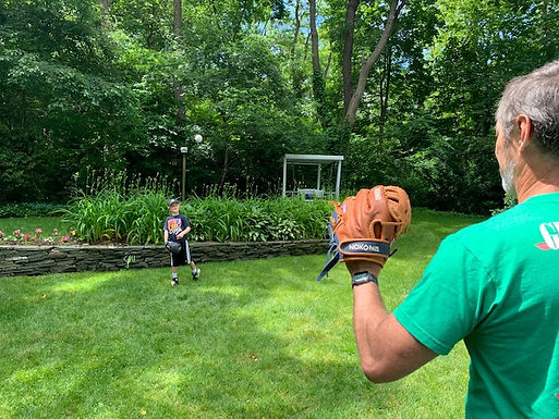 Playing Catch is a Family Affair