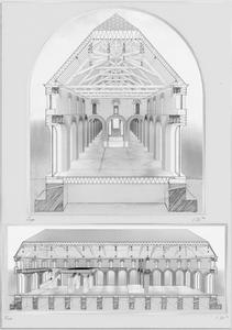 Coupe perspective montrant comment un espace peut être créé en ayant la main sur chaque éléments.