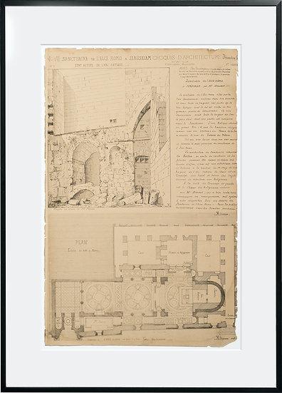 Gravure - Architecture - Sanctuaire de Ecce Homo à Jerusalem - 18