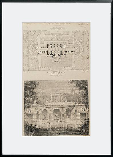 Gravure - Architecture - Grotte - 1866
