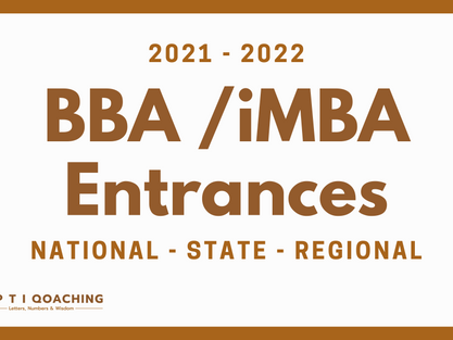 BBA / iMBA Entrance Exams after 12th Decoded for 2021