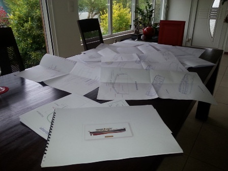 Plans de construction et échantillonage des sructures