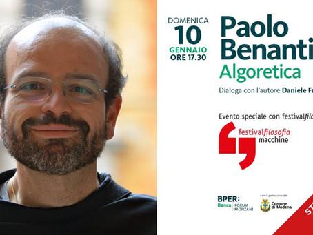 10 gennaio: Algoretica - Festival Filosofia macchine
