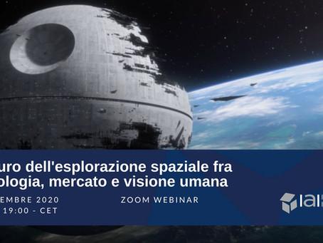 Il futuro dell'esplorazione spaziale fra tecnologia, mercato e visione umana