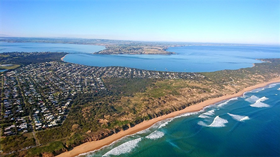 View from the air San remo Cape Woolamai