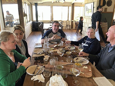 Happy people having lunch