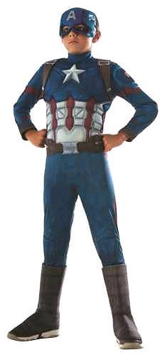 CAPTAIN AMERICA CW DELUXE COSTUME, CHILD